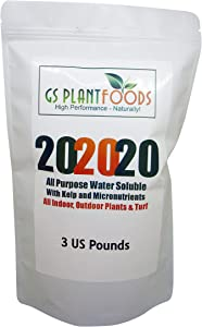 GS Plant Foods All Purpose Balanced 20-20-20 Water Soluble Plant Food 3 pounds