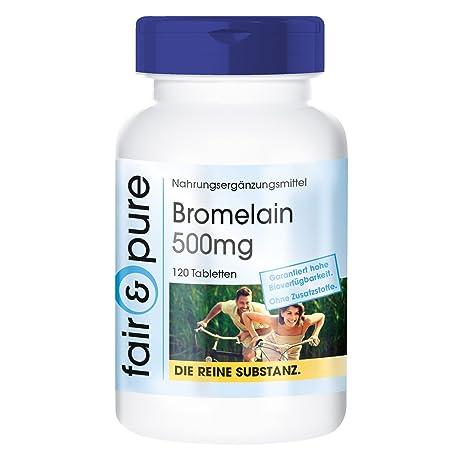 Bromelina 500 mg - Enzima de la piña - Bromelina Suplemento - Alta pureza - 120 Comprimidos
