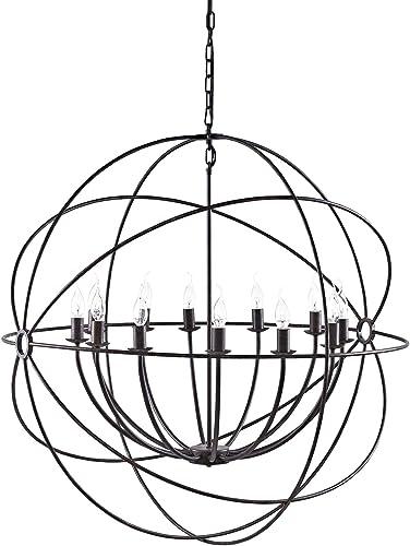 Modway EEI-2111-BRN Atom Chandelier, 39.5 x 39.5 x 75 , Brown