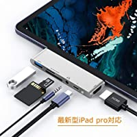 令和 USB Type C ハブ USB C ハブ USB3.0 ハブ 6in1 Type-c hub iPad Pro対応 PD充電 4K HDMI 変換 アダプタ SD/microSD カードリーダー 3.5mm ヘッドホンジャック Macbook/Macbook pro/SAMSUNG/Huawei Mate等対応