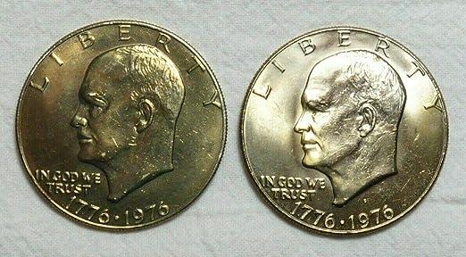 "1776 ~ 1976 P+D  Bicentennial Eisenhower /""Ike/"" Dollar ~ Type I ~ In Mint Cello"
