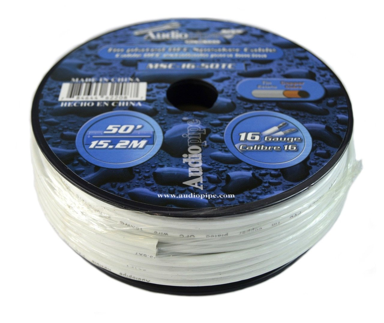 50 Ft Awg 16 Gauge Tin Copper Plated OFC Marine Grade Speaker Audio Cable Wire by Audiopipe