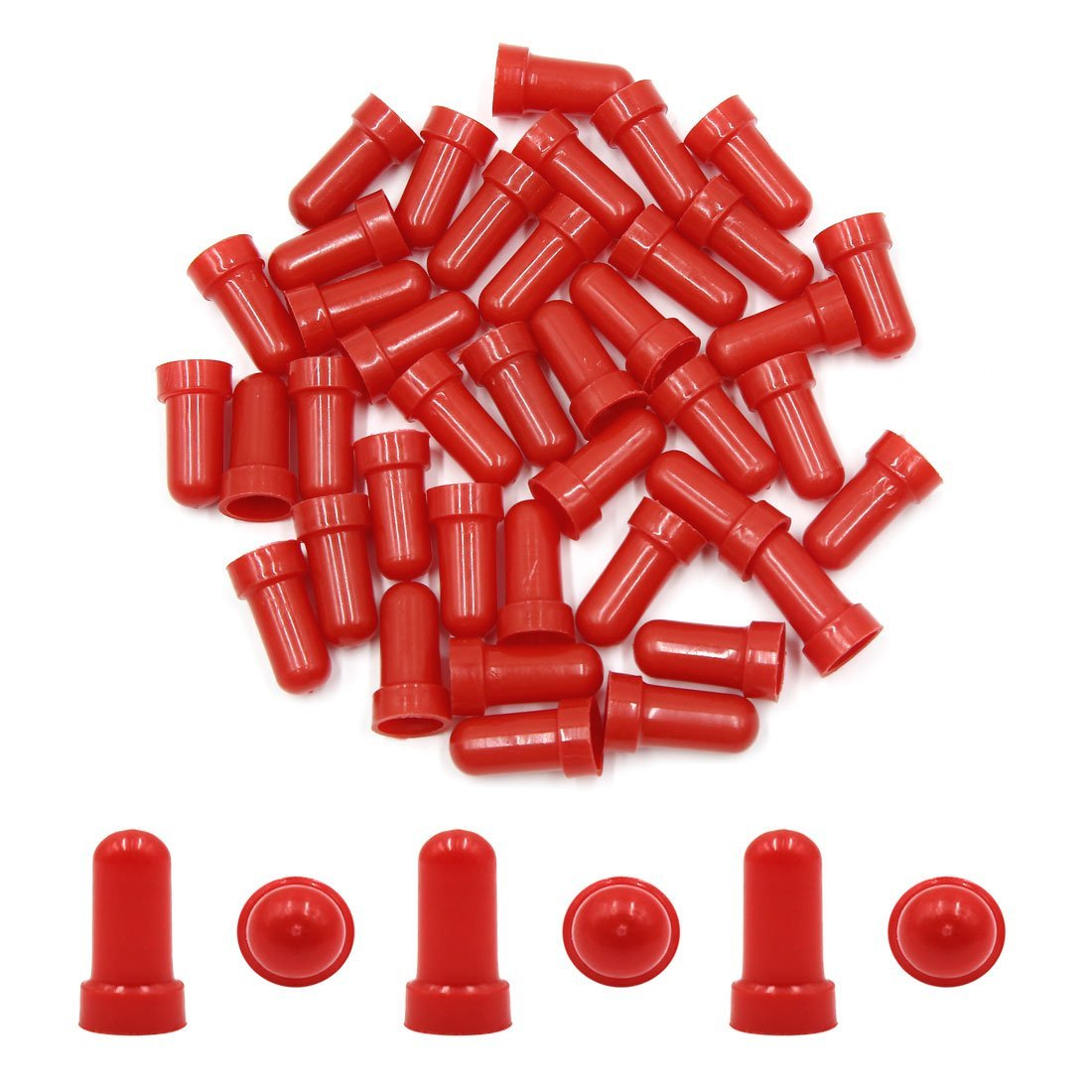 Amazon.com: eDealMax 40Pcs de Los remaches de plástico Rojo de clavos y grapas Clips Negro de Fender Vehículo: Automotive