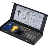 Professional 2-Pin Watch Band Adjust Size Link Pin Removing Repair Tool Kit in Black Box with TWO Extra Pins