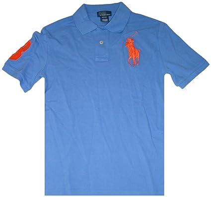 Polo by Ralph Lauren Infant Boys Short Sleeve Big Pony Shirt Light Blue -  Blue -