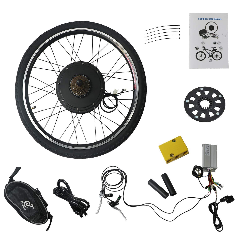 MammyGol Electric E-Bike Motor Kit 26 Front//Real Wheel 48V 1000W Bicycle Motor Conversion Kit