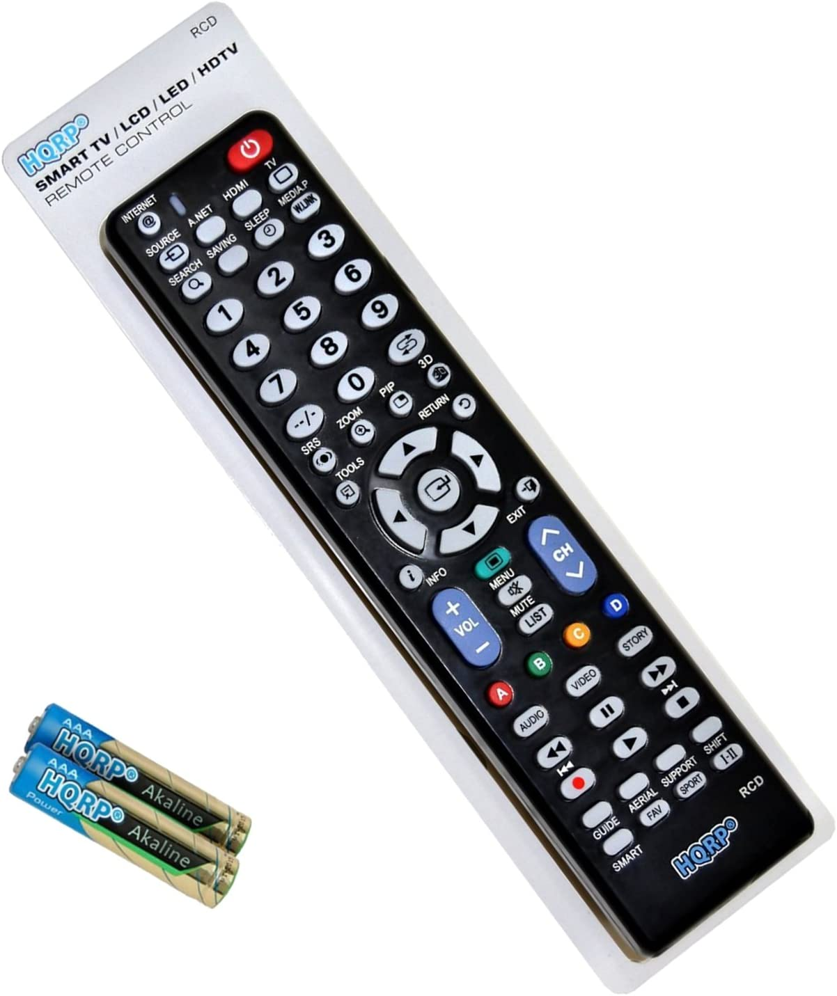 HQRP Remote Control Works with Samsung HP-S5033 HP-S5053 HP-S5073 HP-S6373 HP-T4234 HP-T4254 UN75F6400AFXZA UN65F6400AFXZA UN60F6400AFXZA UN55F6400AFXZA UN50F6400AFXZA LCD LED HD Smart TV