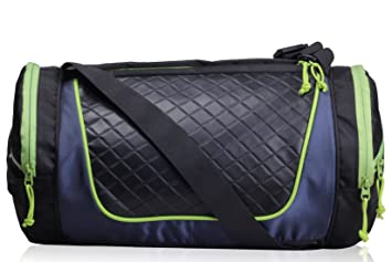 F Gear Astir 18 liter Gym Bag (Black with Green)  Amazon.in  Bags ... 4a98d0b266