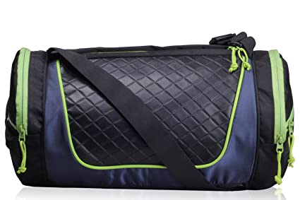 4b8dca8c10 F Gear Astir 18 Liter Gym Bag (Black with Green)  Amazon.in  Bags ...