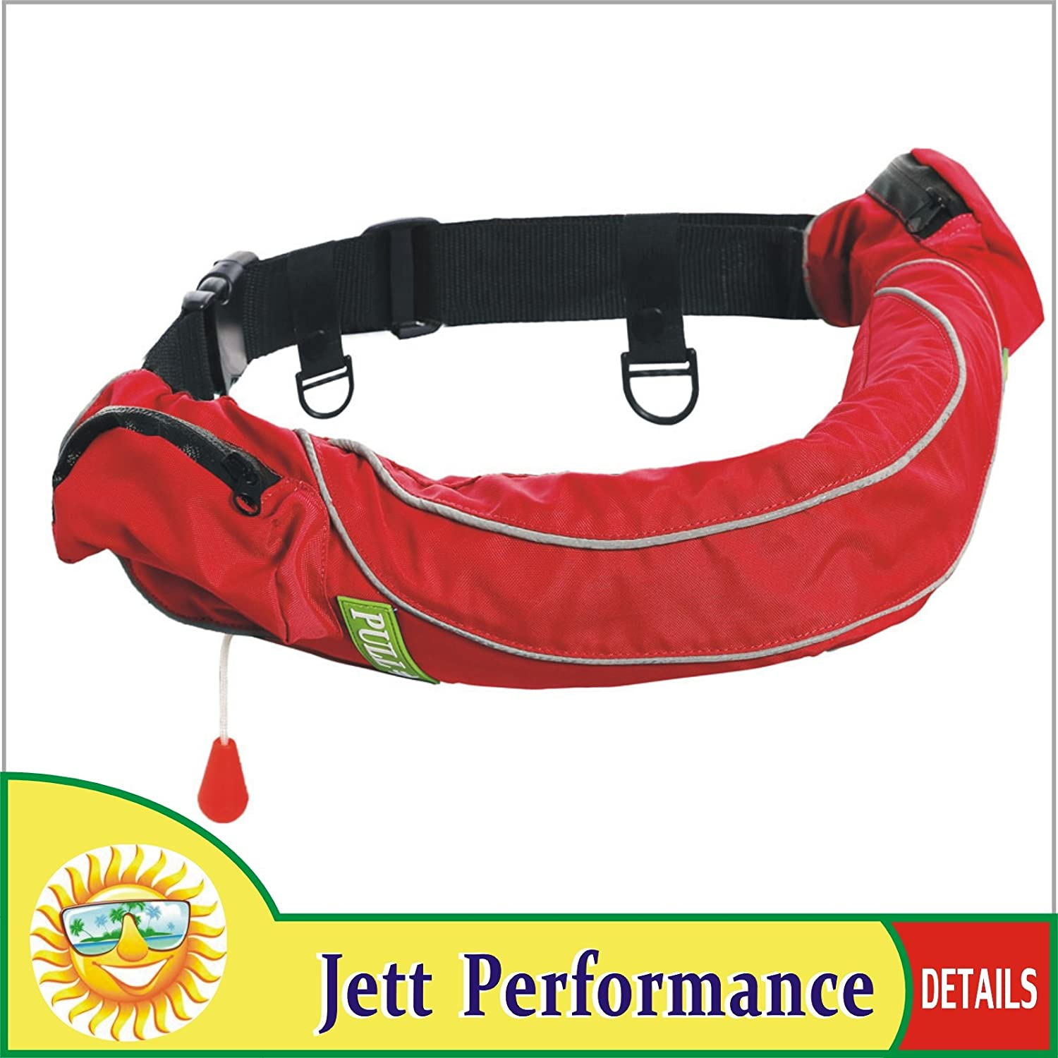 Lifesaving Pro Automatic//Manual Inflatable Belt Pack Waist Pouch Pack PFD Inflate Life Jacket Zippered Pocket Lifejacket Vest SUP Survival Aid