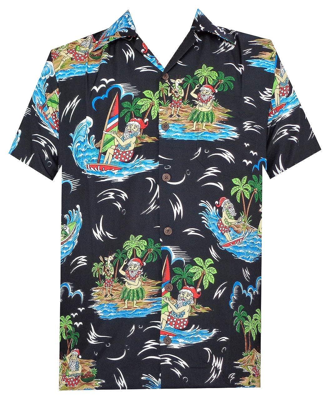 33b12799 Hawaiian Shirt Mens Christmas Santa Claus Party Aloha Holiday Beach at  Amazon Men's Clothing store: