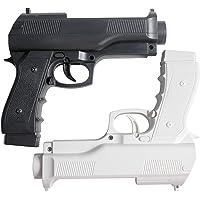 Pistola de luz OSTENT para tiro de videogame esportivo compatível com controle remoto Nintendo Wii, pacote com 2