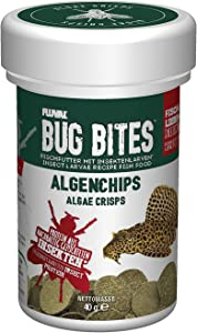 Fluval Bug Bites Algae Crisps for Bottom Feeders, Fish Food for Small to Medium Sized Fish, 1.41 oz.