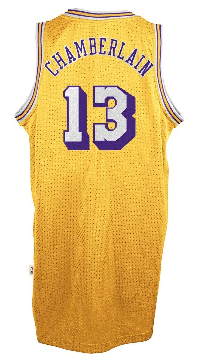 c1286ed887c3 Amazon.com   Wilt Chamberlain Los Angeles Lakers Adidas NBA Throwback Swingman  Jersey - Gold   Shoes
