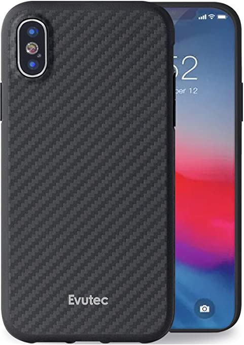 super popular b9466 de427 Evutec Karbon Unique Hard Smooth Heavy-Duty Case Cover Compatible with  iPhone Xs & iPhone X, Aramid Fiber Karbon Strong Protective Slim Durable  Phone ...