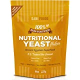 Pure Natural Non-Fortified Nutritional Yeast Flakes (8 oz.) Whole Food Based Protein Powder, Vitamin B Complex, Beta-glucans