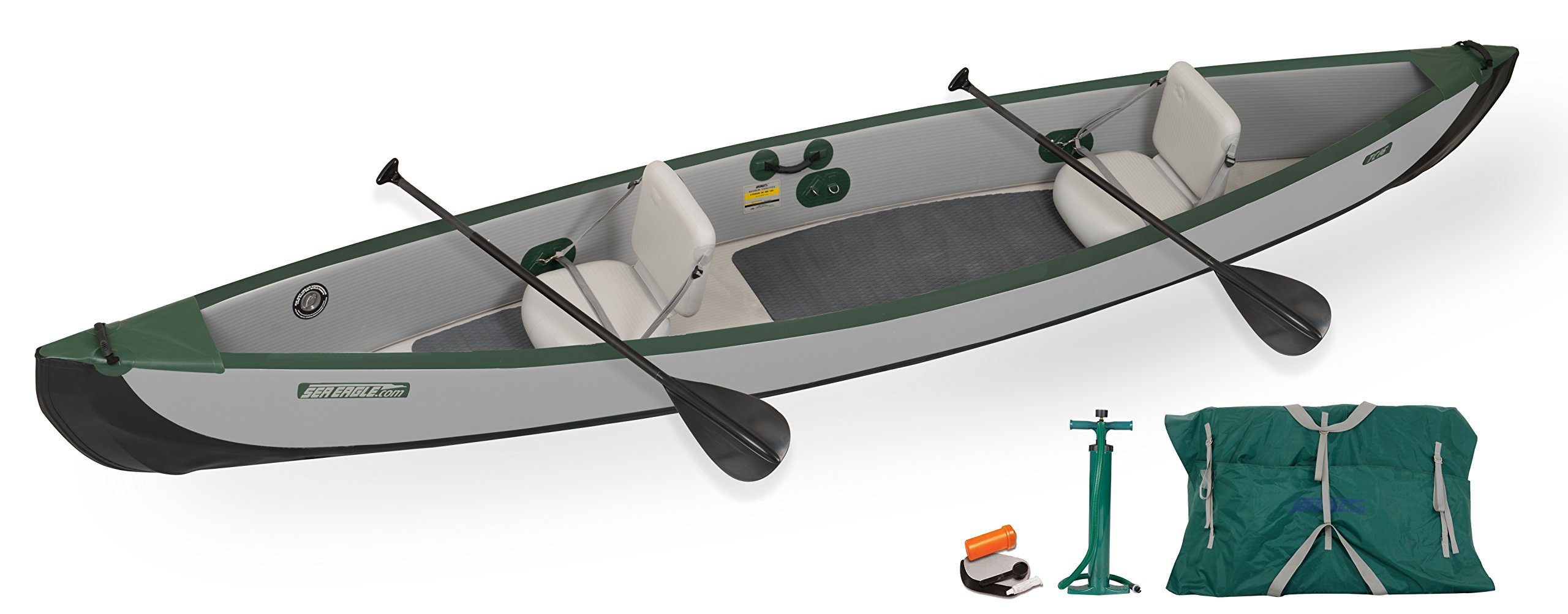 Sea Eagle TC16 Inflatable Travel Canoe Start Up Package by Sea Eagle
