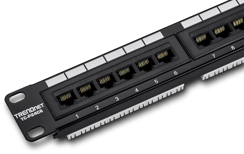 Amazon.com: TRENDnet 24-Port Cat6 Unshielded Wallmount or Rackmount Patch  Panel, Compatible with Cat 3/4/5/5e/6 Cabling, TC-P24C6: Electronics