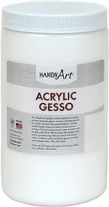 Handy Art® 440-003 Medium Student Acrylic Paint, 32 oz., Gesso White