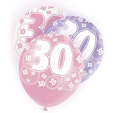 Unique Party - Globos rosa variados 30th Birthday/ 30 ...