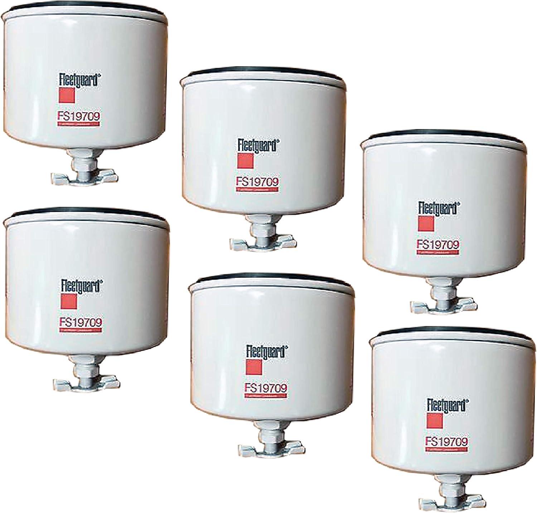 Toro 638300 Donaldson P552374 1492106 Luber Finer LFF8255 Replaces Baldwin BF1267 FS19709 Fleetguard Fuel Filter Water Sep Pack of 6 Onan A026K278 Sierra 237760