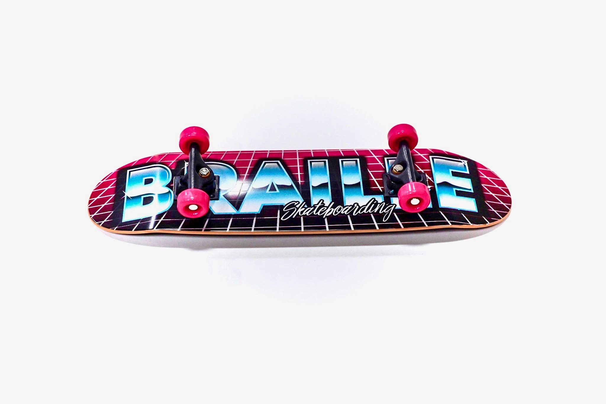 Braille Skateboarding Aaron Kyro 80's 11inch Professional Hand Board. Toy Skateboard Comes with Wheels, Trucks, Hardware and Tools. Real Griptape. by Braille Skateboarding (Image #5)