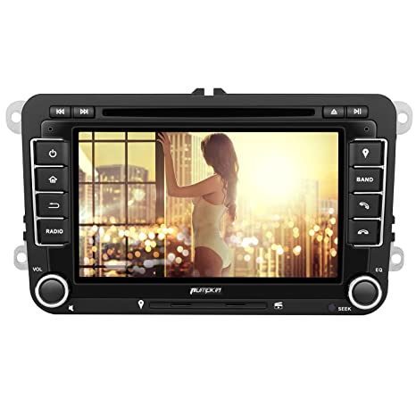 Pumpkin 2 DIN radio de coche reproductor de DVD con 7 pulgadas de pantalla de navegación ...