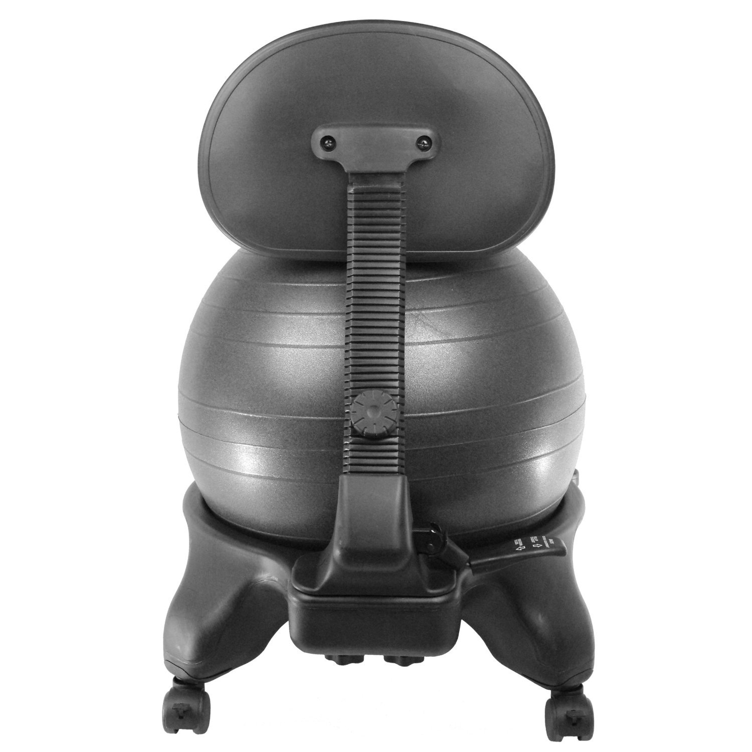 Sivan Adjustable Back Balance Ball Chair with Ball and Pump by Sivan Health and Fitness (Image #2)