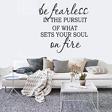 Amazoncom Wall Art Stickers Quotes And Sayings Be Fearless In The