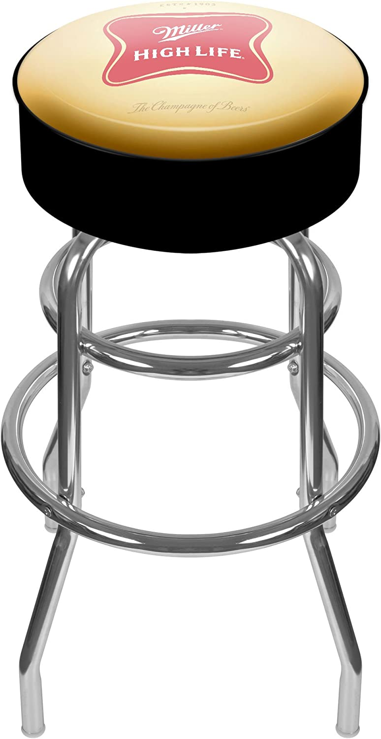 Miller High Life Padded Swivel Bar Stool
