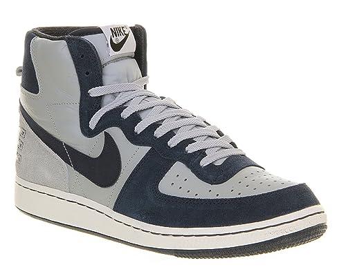 Nike - Zapatillas de Baloncesto de Cuero para Hombre Grey/Mid Navy ...