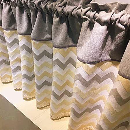 Abreeze Nordic Style Kitchen Curtains Valances Geometric Pattern Half Rod Pocket Cafe Curtain 51