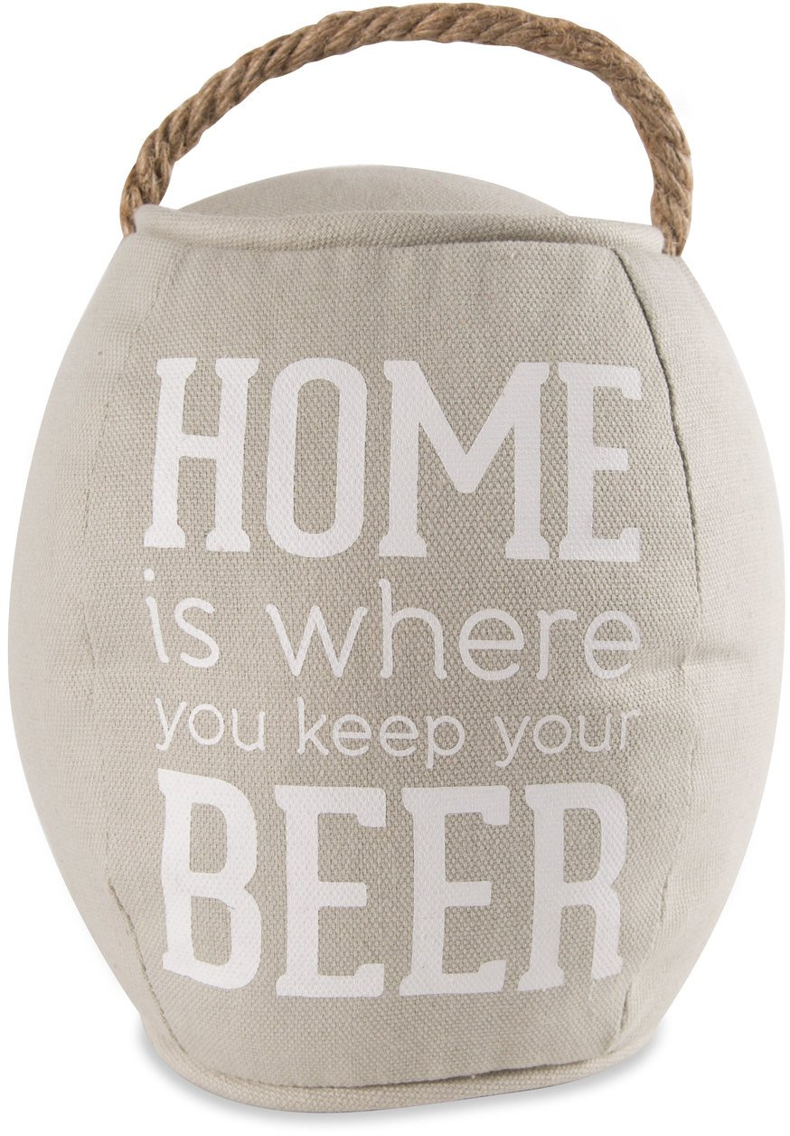 Pavilion Gift Company Home Is Where You Keep Your Beer Door Stopper