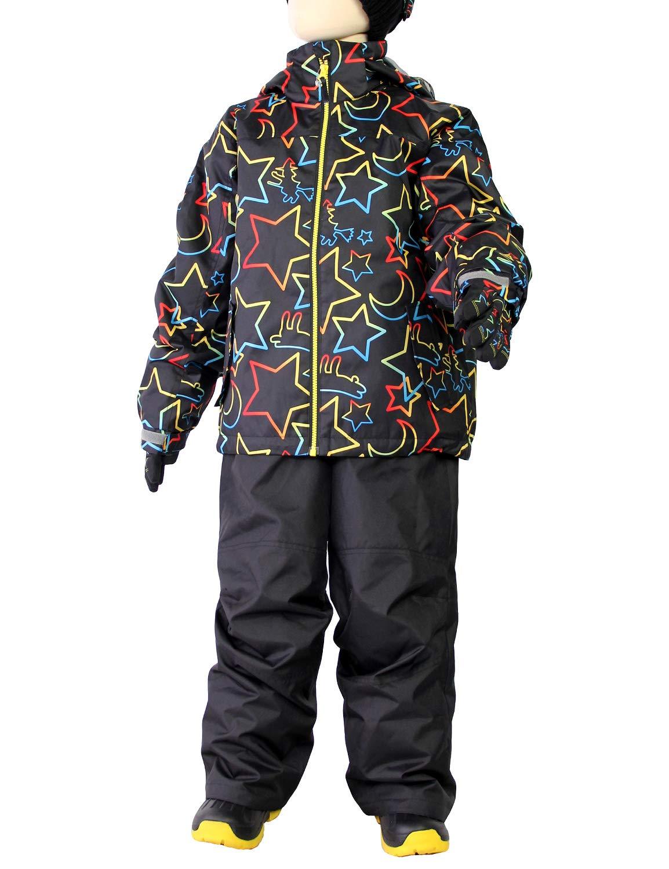 VAXPOT(バックスポット) スキーウェア スノーボードウェア 上下セット キッズ ジュニア 【耐水圧2000mm サイズ調節可能 中綿入り】