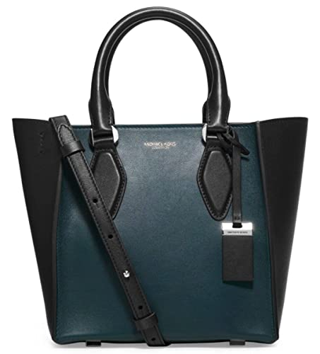 3d45e0d7a61f Michael Kors Collection Gracie Small Leather Tote in Peacock/Black:  Amazon.co.uk: Shoes & Bags