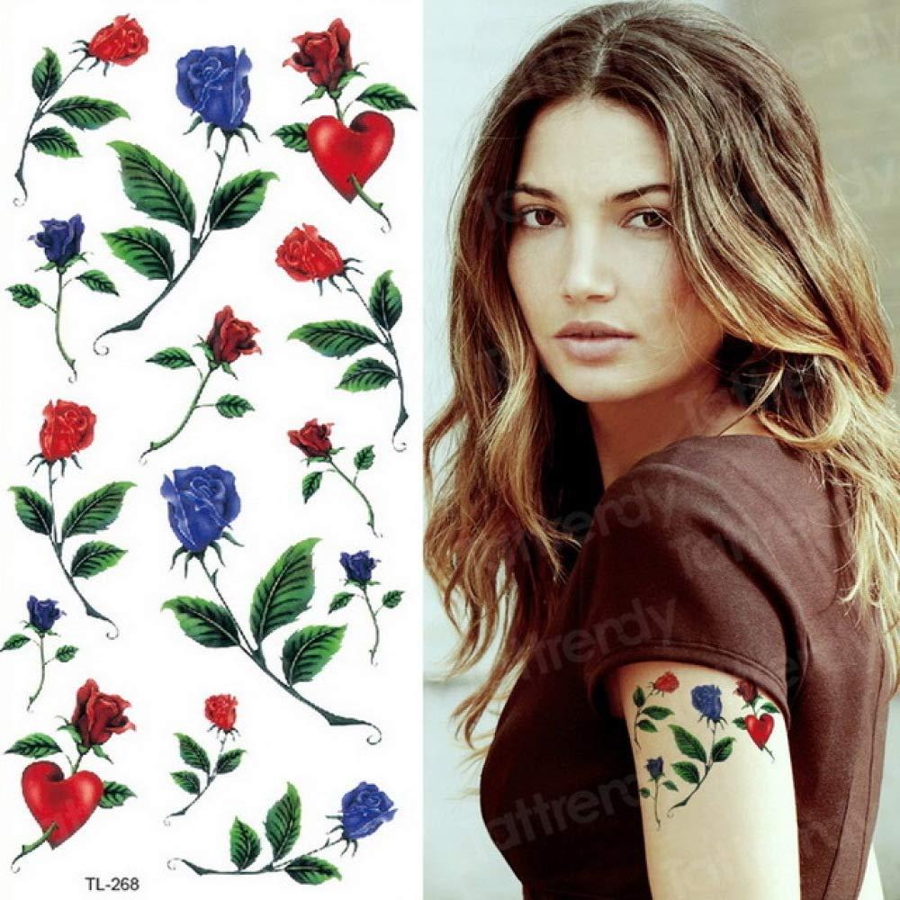 adgkitb 4 Piezas Tatuaje Pegatina Mujer Flor Mariposa Cuerpo ...