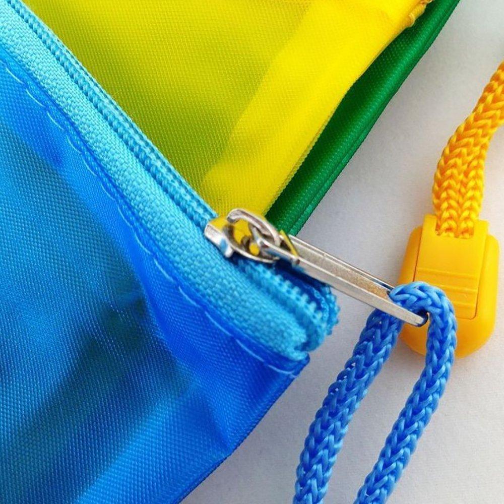 mmy-perles Matte camisa paquete cartera Pochette en PVC Zip Document respaldo 6/pcs A5