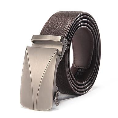 KeeCow Cinturon Hombre Cuero Automatico, Cinturón de Traje ...