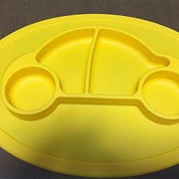 Amazon Qshare幼児用プレート 乳幼児用のベビープレート 子供向けのポータブルbpa Fda認定の幼児用食器洗い機 電子レンジ用安全なシリコンプレート 28xx2 5 Cm プレート ボウル ベビー マタニティ 通販
