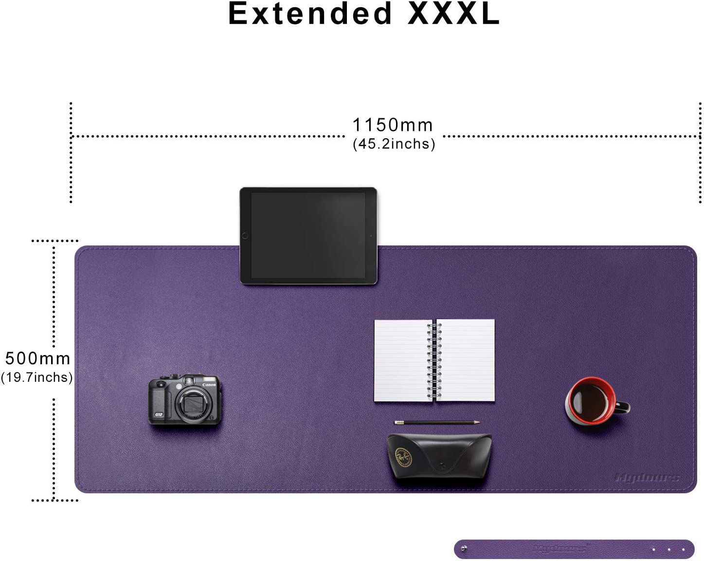 Light Purple Mydours Extended PU Leather Desk Pad//Mat 37.4/×15.7 Large Office Desk Computer Mat Waterproof Leather Gaming Mat Mousepad