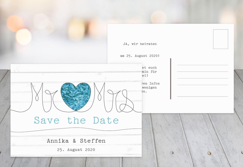Kartenparadies Hochzeitskarte Save-the-Date Mr&Mrs, Mr&Mrs, Mr&Mrs, hochwertige Save the Date Karte zur Hochzeit   80 Karten - (Format  148x105 mm) Farbe  MattBlau B07B6MQKCR | Verkauf  | Hohe Qualität  | Erste in seiner Klasse  821cbb