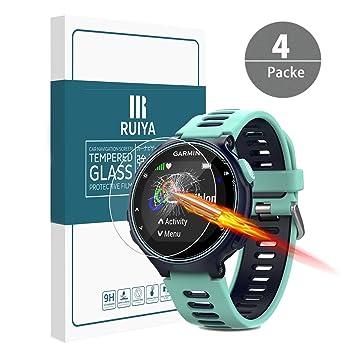 RUIYA Protector de pantalla de cristal templado para Garmin Forerunner735, película protectora, protector de