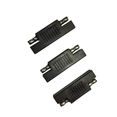 Sunway Solar SAE Polarity Reverse Adapter Connectors For Quick Disconnect Extension Cable, Solar Panel Battery Power Charger And Maintainer-3Pack: Automotive