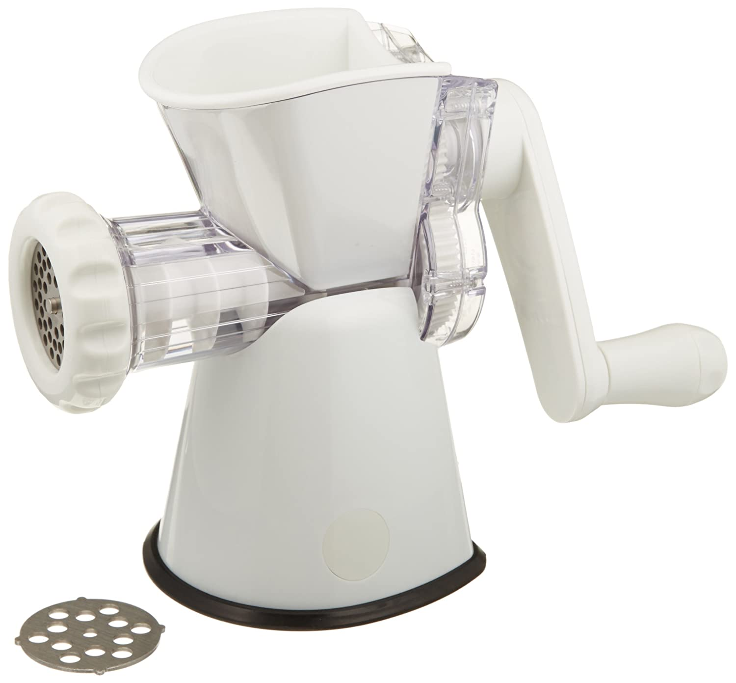 Weston No. 8 Manual Food Grinder (16-0201-W) for Fresh Ground Meats and Vegetables, With Sturdy Suction Base