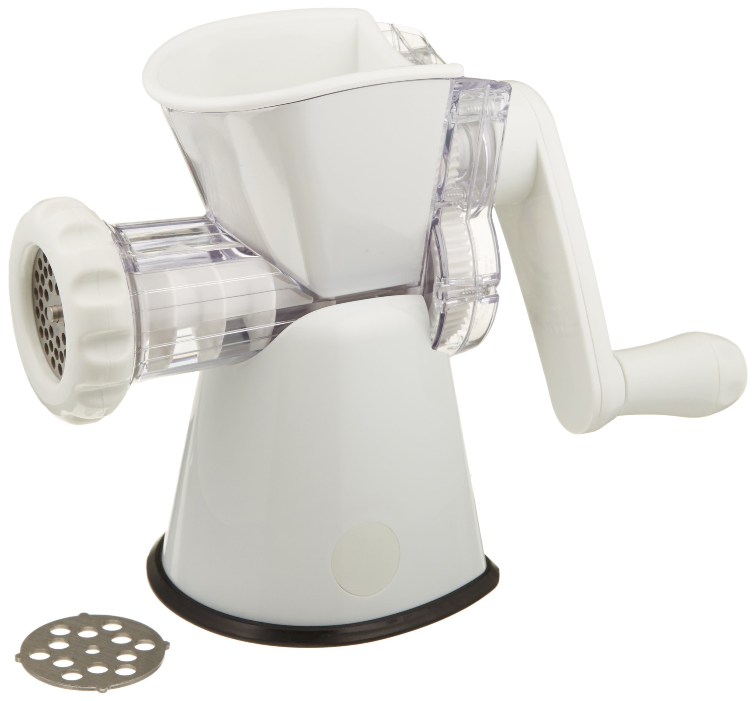Weston No. 8 Manual Food Grinder (16-0201-W) for Fresh Ground Meats and Vegetables, With Sturdy Suction Base by Weston