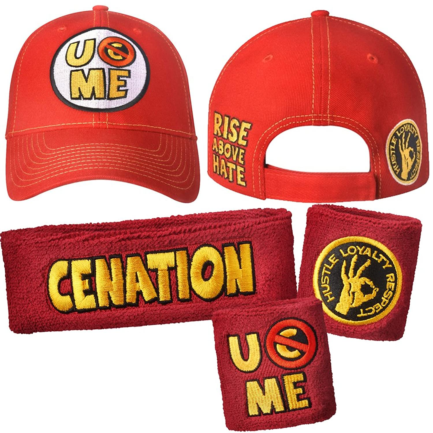 John Cena Never Give Up Baseball Hats Cap U Can't See Me Wristbands Sweatband