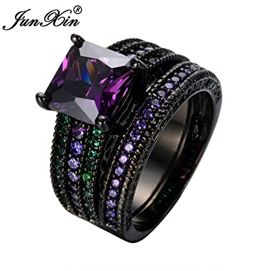 Amazon Com Slyq Jewelry Top Quality Elegant Fashion Purple Green