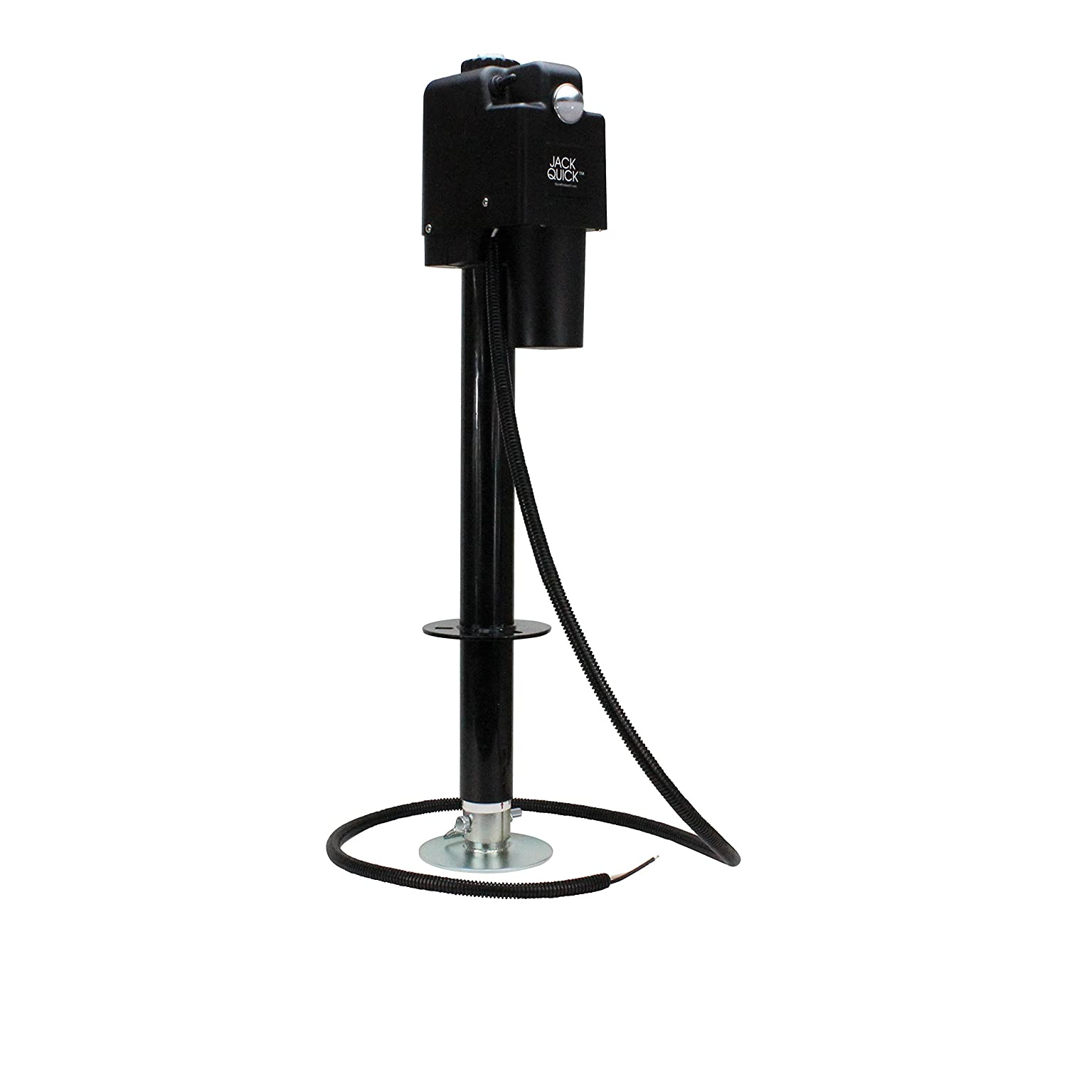 Amazon.com: Jack Quick 3500 JQ-3500B 12V Electric Tongue Jack with single  Lights, 3650 lb. Capacity / Black: Automotive