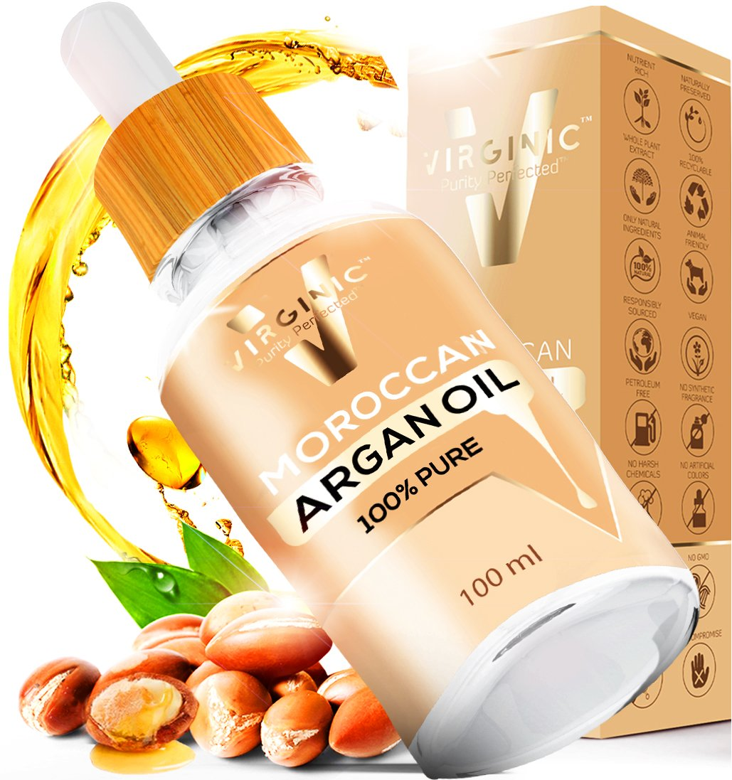 Pure Argan Oil Cold Pressed 4 OZ Anti Aging Great Product Use For Face Skin Nails Dry Hair Treatment Really Good Organic Hand Moisturizer All Love The Soft Smell From The Bottle