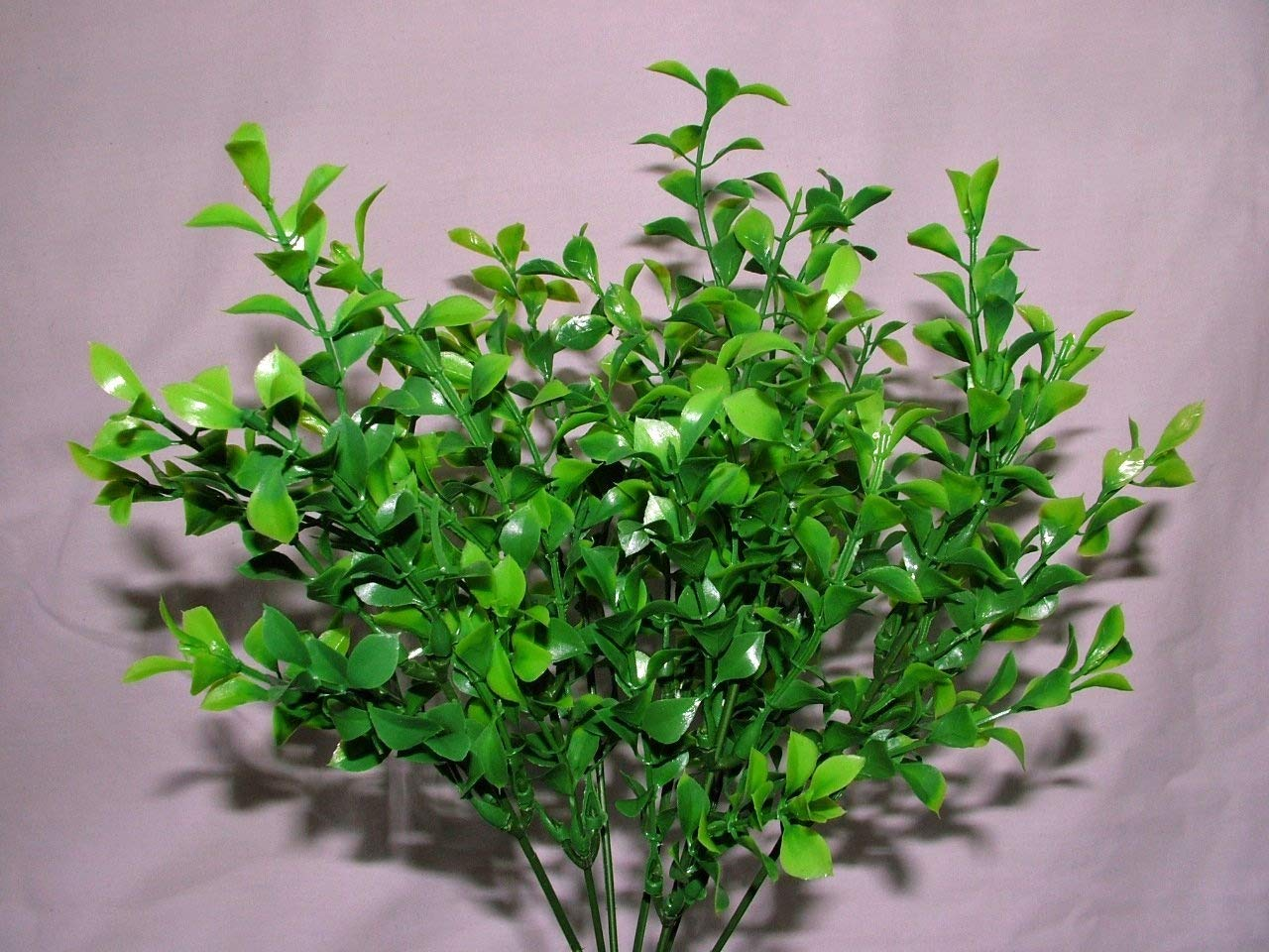 3 x Artificial Two-tone Waterproof Boxwood Topiary Bush - 7 stems each - Planters Hanging Baskets Garden Foliage Wedding